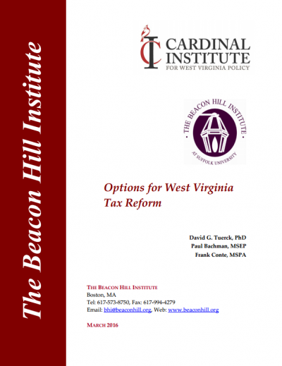 Options for West Virginia Tax Reform