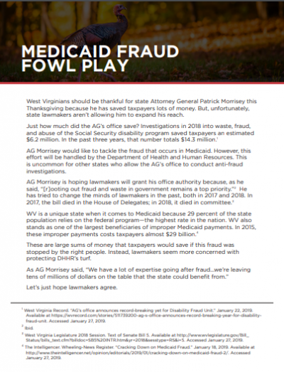 Medicaid Fraud Fowl Play