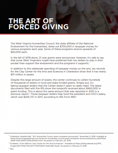 The Art of Forced Giving