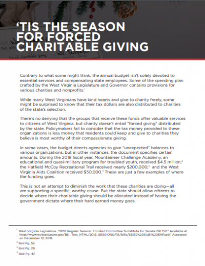 Tis the Season for Forced Charitable Giving
