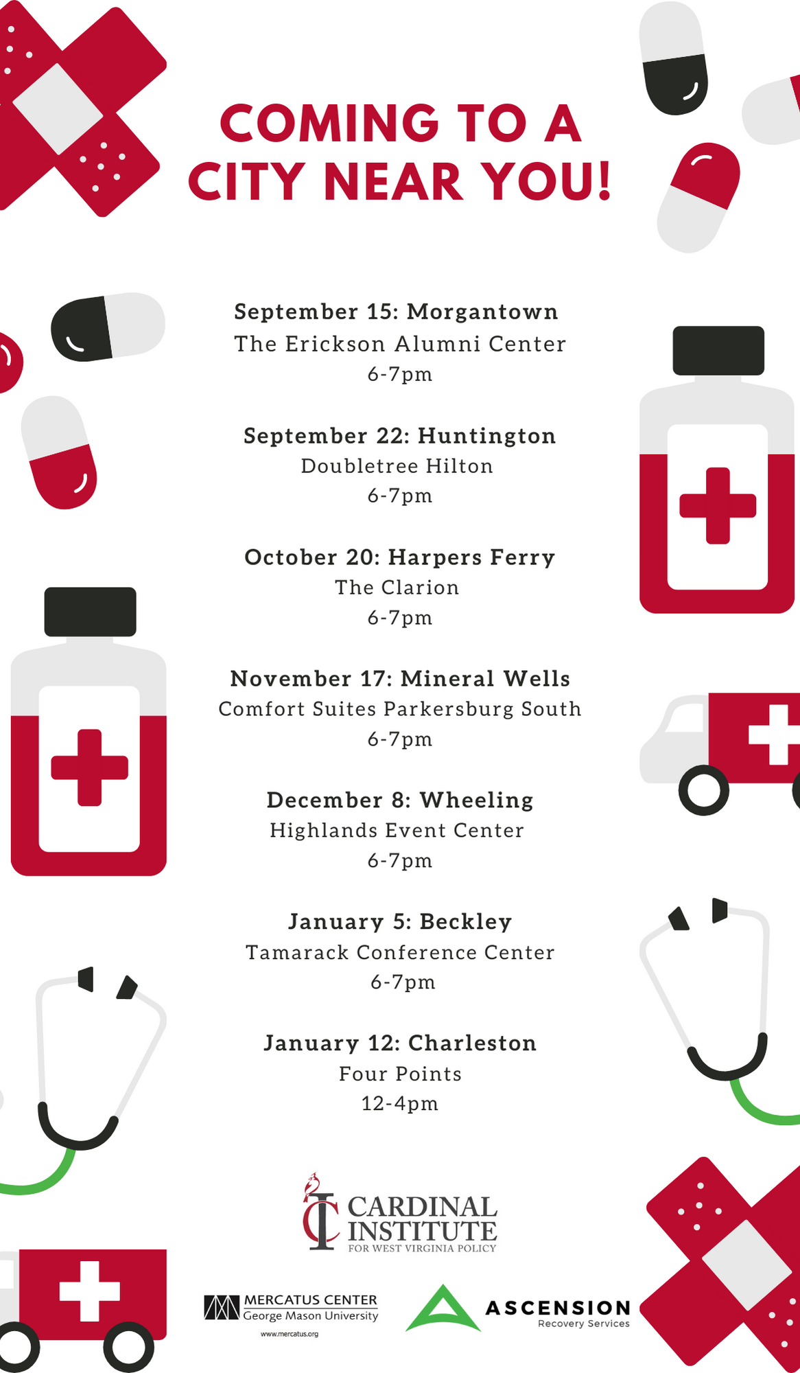 2021 Health Care Tour Locations & Dates